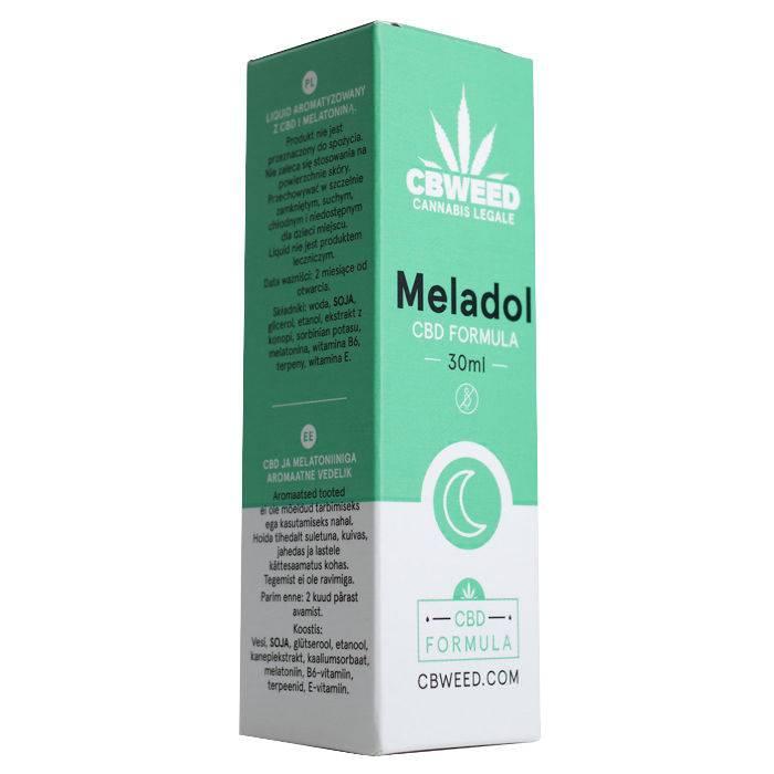 Liposomalny Meladol CBD 30 ml - na dobry sen (producent Cibdol)