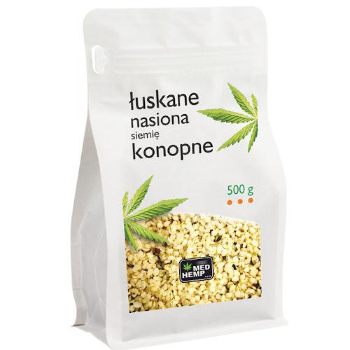 łuskane nasiona konopne