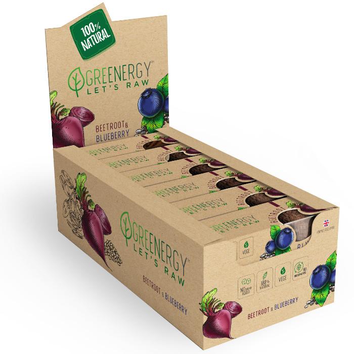 zdrowa przekąska to baton od greenergy o smaku jagody i buraka dostępny w luuz medic