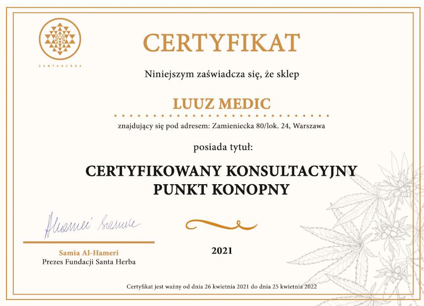 sklep konopny luuz medic certyfikat
