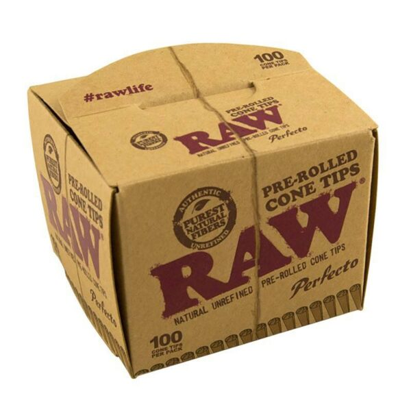 pre rolled cone tips raw perfecto 100 pcs